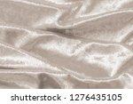 beige gold velvet background or ...   Shutterstock . vector #1276435105