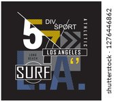 los angeles surfing typography... | Shutterstock .eps vector #1276446862