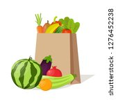 paper bag full of natural... | Shutterstock .eps vector #1276452238