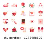 valentine s day colors icon set.... | Shutterstock .eps vector #1276458802