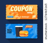 food and drink coupon ticket... | Shutterstock .eps vector #1276465165