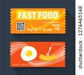 fast food coupon ticket card.... | Shutterstock .eps vector #1276465168