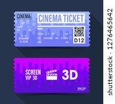 cinema ticket card. purple... | Shutterstock .eps vector #1276465642