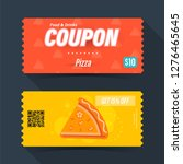 food and drink coupon ticket... | Shutterstock .eps vector #1276465645