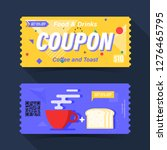 food and drink coupon ticket... | Shutterstock .eps vector #1276465795
