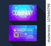 business card. abstract modern... | Shutterstock .eps vector #1276465798
