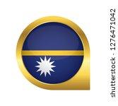 flag of nauru  location map pin ... | Shutterstock .eps vector #1276471042