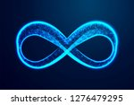 infinity icon. abstract low... | Shutterstock .eps vector #1276479295