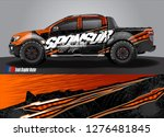 car decal  truck and cargo van...   Shutterstock .eps vector #1276481845