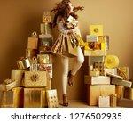 full length portrait of excited ... | Shutterstock . vector #1276502935