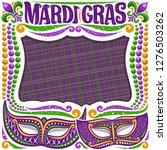 vector frame for mardi gras... | Shutterstock .eps vector #1276503262