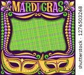 vector frame for mardi gras... | Shutterstock .eps vector #1276503268