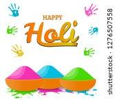 happy holi spring festival of...   Shutterstock .eps vector #1276507558