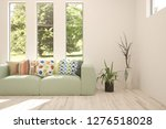 idea of white room with sofa... | Shutterstock . vector #1276518028