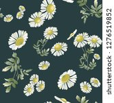 many daisies scattered randomly ... | Shutterstock .eps vector #1276519852