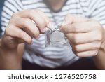condom ready to use in female... | Shutterstock . vector #1276520758