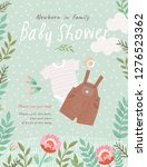 baby shower invitation template ... | Shutterstock .eps vector #1276523362