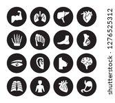 16 vector icon set   human... | Shutterstock .eps vector #1276525312