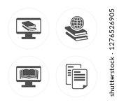 4 ebook  browsing  paper modern ... | Shutterstock .eps vector #1276526905