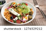 salad with chickpeas  feta and...