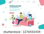 people sitting on sofa or desk  ... | Shutterstock .eps vector #1276531435