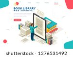 media book library concept. e... | Shutterstock .eps vector #1276531492