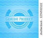 genuine product light blue... | Shutterstock .eps vector #1276532122