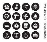 16 Vector Icon Set   Captain...