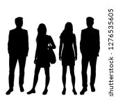 set of vector silhouettes of ... | Shutterstock .eps vector #1276535605