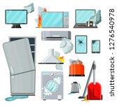 modern flat home appliances...   Shutterstock . vector #1276540978