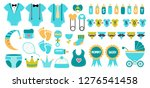 baby shower icon vector set in... | Shutterstock .eps vector #1276541458