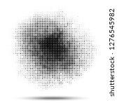 halftone circle pattern. grunge ... | Shutterstock .eps vector #1276545982