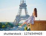 beautiful young woman near the... | Shutterstock . vector #1276549405