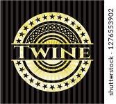 twine golden badge   Shutterstock .eps vector #1276553902