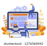 ui   ux   app development  web...   Shutterstock .eps vector #1276560442