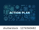 action plan horizontal blue... | Shutterstock .eps vector #1276560682