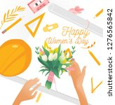 March 8 Bouquet With Tulips An...