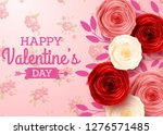 valentines day greeting card... | Shutterstock .eps vector #1276571485