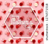 happy mother's day pink... | Shutterstock .eps vector #1276571518