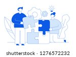 flat line style business...   Shutterstock . vector #1276572232