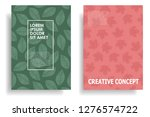 modern cover design with leaf... | Shutterstock .eps vector #1276574722