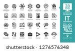 information technology glyph...   Shutterstock .eps vector #1276576348