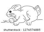 rabbit running on the ground  ... | Shutterstock .eps vector #1276576885