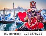 venice  italy  carnival of... | Shutterstock . vector #1276578238