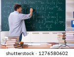 young male student studying... | Shutterstock . vector #1276580602