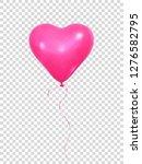 heart balloon. realistic pink... | Shutterstock .eps vector #1276582795