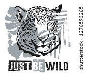just be wild t shirt apparel... | Shutterstock .eps vector #1276593265