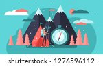 camping vector illustration.... | Shutterstock .eps vector #1276596112