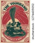 skull cobra gig poster flyer...   Shutterstock .eps vector #1276605052