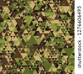 triangle camouflage seamless... | Shutterstock .eps vector #1276606495